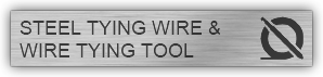 STEEL TYING WIRE AND WIRE TYING TOOL